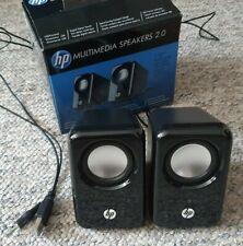 HP Wired Speaker System -Black BR367AA USB Laptop PC, HP multimedia speakers 2.0
