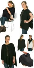 Bamboobies Chic Black Maternity Nursing Cover Shawl Car Seat Cover One Size