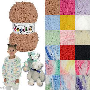 King Cole Cuddles Chunky & Cuddles Multi Chunky Fluffy Knitting Yarn 50gm