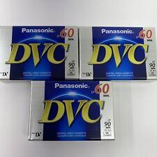 New listing Panasonic Mini Digital Video Tapes Dvc Sp60 Lp90 Min Au-Dvm60Ej New Lot Of 3