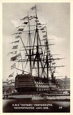 """H.M.S. """"Victory"""" Portsmouth, Royal Navy Ship, Greetings, reconstructed in 1928"""