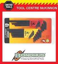 Bondhus 22199 22pce Metric & A/f Long Arm Hex Allen Key Set – Made in USA