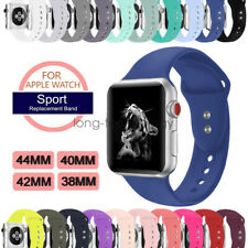 Silicone Sport Watch Strap For Apple Watch SE Band Series 6 5 4 3 40mm 44mm 38mm