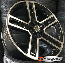 26 GMC Replica 2016 Wheels Black Mch Rims Suburban Escalade Sierra Yukon Tahoe
