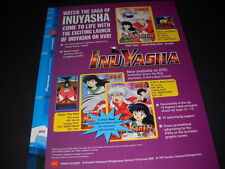 INU YASHA Watch The Saga Comes To Life Vintage ANIME Promo Ad mint condition