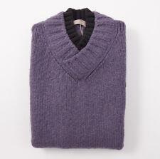 NWT $650 CRUCIANI Heather Purple Wool-Mohair-Cashmere Sweater Vest L (Eu 52)