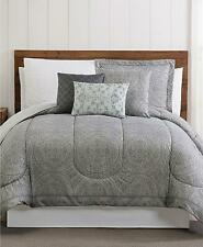 Style 212 Calista 12 Piece Medallion Print King Comforter Set Grey $220