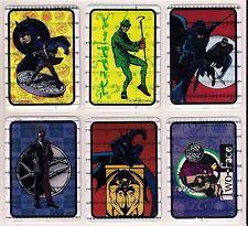 BATMAN 1994 PRISM Vending Sticker Complete Set (12) - DC Comics Inc.