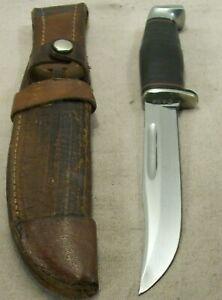 1950's~CASE 516-5 SPORTSMAN'S HUNTING & FIGHTING KNIFE w/ORIG. LEATHER SHEATH~