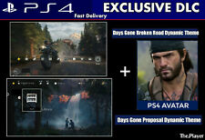 Days Gone PS4 Exclusive Themes & Avatar | DLC | Playstation 4 PS4 [Digital Code]