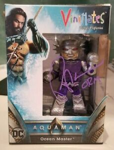 Ocean Master Orm Vinimate Vinyl Fig SIGNED by Patrick Wilson Aquaman Movie DC