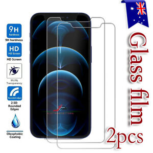 iPhone 12 11 Pro XS Max Mini XR X SE 8 Tempered Glass Screen Protector For Apple