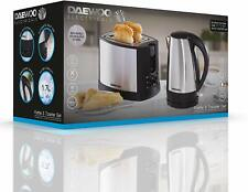Daewoo SDA1197 Stainless Steel, Silver Kettle and Toaster Set
