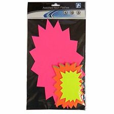 Neon Flashes Assorted Sizes Display Card - Pack of 21 - Assorted Colours