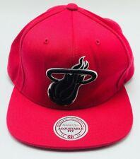 Miami Heat NBA Mitchell & Ness Mens Neon Pink Snapback Hat Cap