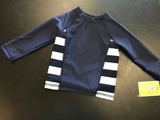 Circo Boys or Girls Gender Neutral Navy Long Sleeve Rash Guard Swim Top NWT 18M