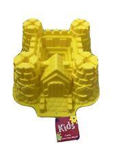 Castle Cake Mould Silicone with original price label. Yellow, 10 Inch Square