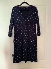 Joules Blue And White Polka Dot Spotted Empire Dress Size 14