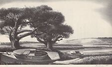 STOW WENGENROTH 1939 WPA Book Print QUIET DAY From Artwork Sketch