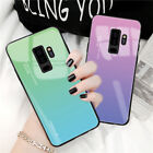 Tempered Glass Phone Gradient Case For Samsung Galaxy S10 Plus S10e S9 S8 Cover