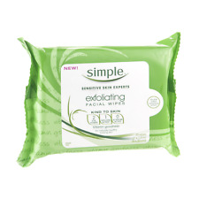 Simple Sensitive Skin Experts Exfoliating Cleansing Facial Wipes 25 Wipes