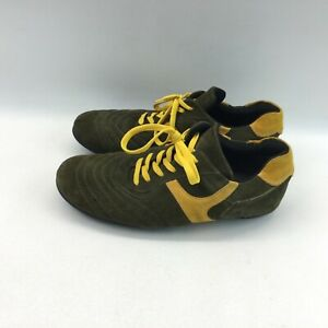 Skechers collection green yellow suede lace up mens 9.5M casual shoes