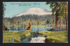 c1915 Lake Paradise Park Mt. Rainier Washington landscape postcard