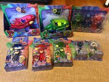 PJ Masks Night Ninja Owlette Luna Girl Catboy Gekko Massive Lot Glider Squirters