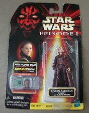 Star Wars Episode I ~ Queen Amidala Figurine ~ With Blaster Pistols & Comm Chip