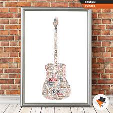 Personalised Dad Christmas Gifts Uncle Grandad Framed Birthday Guitar Present