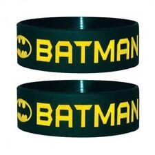Official Batman - Text And Logo - Rubber Gummy Wristband
