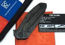 Custom Knife Factrory CKF T92 Alexey Konygin Design M390 Titanium Bearings Case