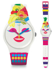 Swatch SO Frutti Watch suow121 Analogue Silicone Purple, Pink, White
