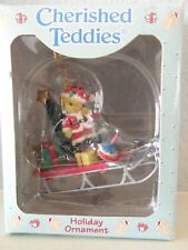 1997 Cherished Teddies Christmas Holiday Ornament #499781 Enesco P. Hillman