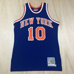 100% Authentic Walt Frazier Mitchell Ness 1972 73 Knicks Jersey Size 40 M Mens