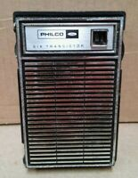 Vintage 1970 Philco-Ford T-612BK 6 transistor radio w carry case Taiwan - works