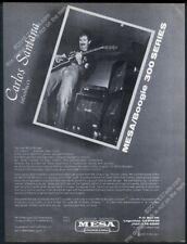 1981 Carlos Santana photo Mesa Boogie amp vintage print ad