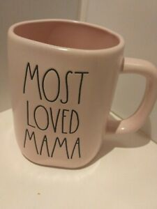 "Rae Dunn ""MOST LOVED MAMA"" mug MOTHERS DAY Pink New"
