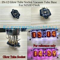 1 Pcs IN-12 Golw Tube Socket Vacuum Tube Base Gold Plated Pin 4 NIXIE Clock DIY