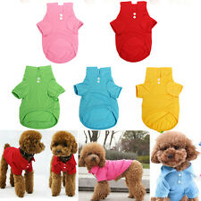 Pet Dog Collar Puppy T-Shirt Clothes Outfit Apparel Coat Cotton XS-M Size  U1