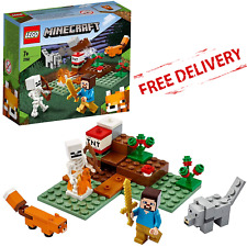 LEGO Minecraft Kids Building Set Taiga Adventure Steve Wolf Fox Figures Fun Toys