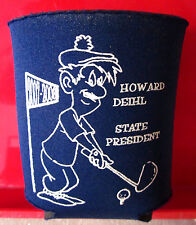 Howard Deihl golf vtg koolie beer Elks Club koozie aviation 2007 Michigan huggie