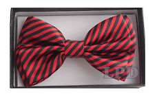 PreTied Formal Tuxedo Bow Tie Black And Blue STRIPED Fashion BowTie NEW IN BOX