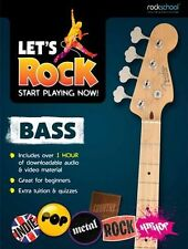 Lets Rock Bass Start Playing Now Play ROCKSCHOOL Learn to GUITAR slap Music Book