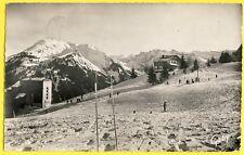 cpsm Vue Rare 74 - MORZINE (Haute Savoie) Le PLENAY et les RESSACHAUX neige Ski