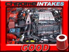 BLACK RED 91-99 3000GT/3000 GT GTO/DODGE STEALTH VR4 3.0L V6 TURBO Y AIR INTAKE
