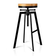 Vintage Retro Industrial Stool Industry Chair Steel Bar Kitchen Swivel 098