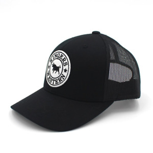 Signature Bull Black with Black & White Patch Trucker Cap Ringers Western
