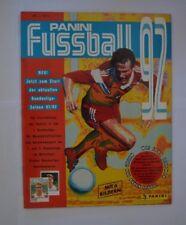 Panini Fußball Bundesliga Saison 1992 Fast-Leeralbum m.86 eingeklebten Stickern