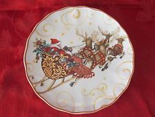 WILLIAMS SONOMA TWAS THE NIGHT BEFORE CHRISTMAS DINNER PLATE SANTA NEW